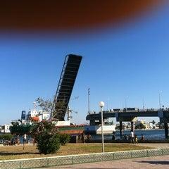 Photo taken at Pont de Bizerte by Imed R. on 7/25/2012