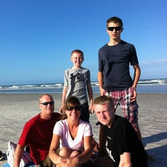 Photo taken at New Smyrna Lifeguard Station by Rachael J. on 3/28/2012