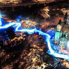 Photo taken at Red Bull Crashed Ice 2014 by Red B. on 1/15/2012