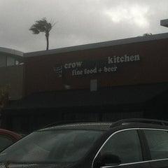Photo taken at Crow Burger Kitchen by Jordan D. on 4/13/2012