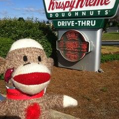 Photo taken at Krispy Kreme Doughnuts by Blair C. on 4/22/2012