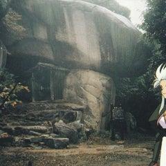 Photo taken at 鬼の差し上げ岩 (Ryoko's Cave) by Ryoko Hakubi on 8/16/2011