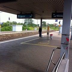 Photo taken at Bahnhof Frankfurt-Niederrad by Felix B. on 7/22/2011