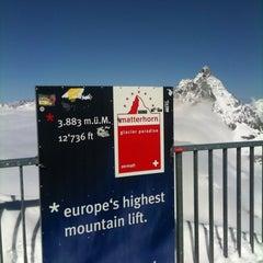 Photo taken at Matterhorn Glacier Paradise by Raffaello D. on 4/15/2011