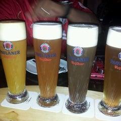 Photo taken at Brotzeit German Bier Bar & Restaurant by Christine on 7/27/2012