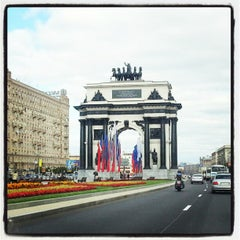 Photo taken at Кутузовский проспект by Ilya on 9/4/2012