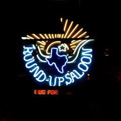 Photo taken at Round-Up Saloon and Dance Hall by Brett R. on 4/15/2012