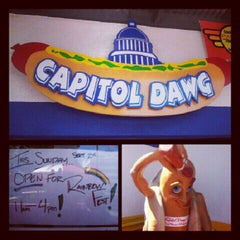 Photo taken at Capitol Dawg by mR. bLk SuPrMn™ on 9/2/2012