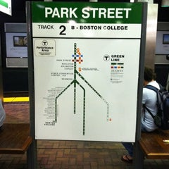 Photo taken at MBTA Park Street Station by Justin W. on 9/3/2011