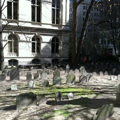 Photo taken at King's Chapel Burying Ground by Jess L. on 4/4/2012