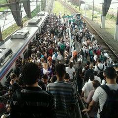 Photo taken at Estação Santo Amaro (CPTM) by Helio S. on 4/18/2012