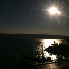 Photo taken at Sea of Galilee - Kinneret (כנרת) by Steve S. on 11/9/2011