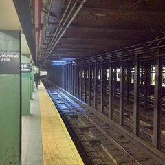 Photo taken at MTA Subway - 59th St/Columbus Circle (A/B/C/D/1) by Pablo T. on 12/30/2011