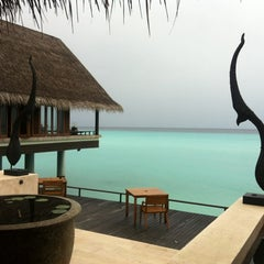 Photo taken at One & Only Reethi Rah Restaurant by Alina T. on 11/24/2011