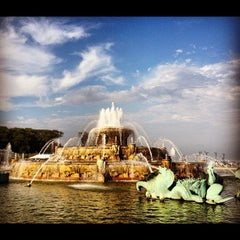 Photo taken at Clarence Buckingham Memorial Fountain by Anand S. on 7/16/2012