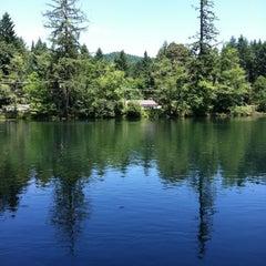 Photo taken at Leaburg Lake by David W. on 7/24/2011