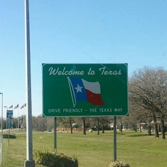 Photo taken at Louisiana / Texas State Line by Jessica N. on 2/11/2012
