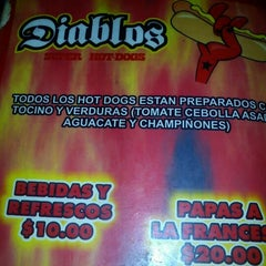 Photo taken at Diablos Super Hot Dogs by Jo C. on 4/12/2012