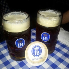 Photo taken at Hofbräu München Beer Hall by Jorge M. on 6/29/2012