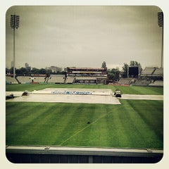 Photo taken at Emirates Old Trafford by Abbi O. on 6/21/2012