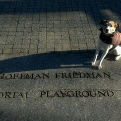 Photo taken at Central Park - Pat Hoffman Friedman Playground by Jonathan H. on 12/28/2011