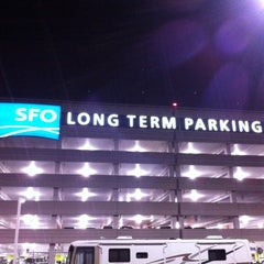 Photo taken at SFO Long Term Parking by Briana D. on 10/22/2011