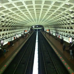 Photo taken at Farragut West Metro Station by M J. on 7/3/2012