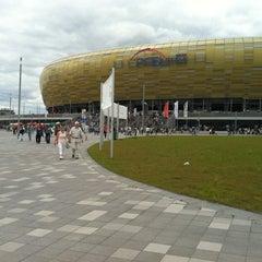 Photo taken at PGE Arena Gdańsk by Karolina J. on 7/15/2012