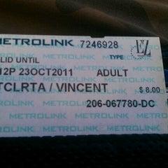 Photo taken at Metrolink Santa Clarita Station by Westlee B. on 10/24/2011