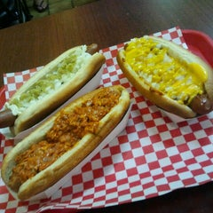 Photo taken at Fab Hot Dogs by Bryan D. on 6/2/2012