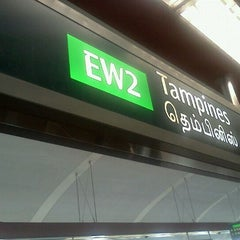 Photo taken at Tampines MRT Station (EW2/DT32) by Lu T. on 8/29/2011