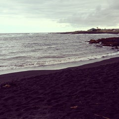 Photo taken at Punalu'u Black Sand Beach by Courtney M. on 10/21/2011