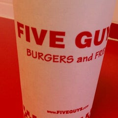 Photo taken at Five Guys Burgers And Fries by Michelle P. on 11/29/2011