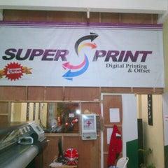Photo taken at Super Print by Galih S. on 2/10/2012
