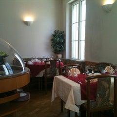 Photo taken at Restaurant Pizzeria De La Gare by Laetitia D. on 4/20/2012