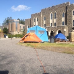 Photo taken at Graduate Student Tent #1 by Mary J. on 3/1/2012