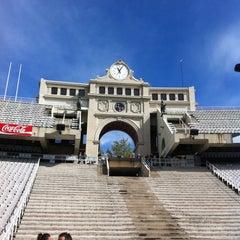 Photo taken at Estadi Olímpic Lluís Companys by Sara on 4/15/2012