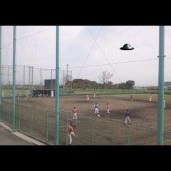 Photo taken at 新宝満川地区野球場 by GATTACA on 11/3/2011