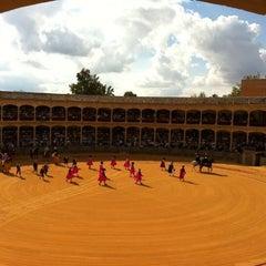 Photo taken at Plaza de Toros de Ronda by Asun R. on 9/3/2011