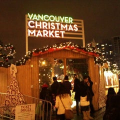 Photo taken at Vancouver Christmas Market by Steven Y. on 12/20/2011
