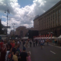 Photo taken at Official Fan Zone of UEFA EURO 2012 by Georgiy F. on 6/16/2012