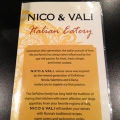 Photo taken at Nico & Vali by Judi on 2/9/2012