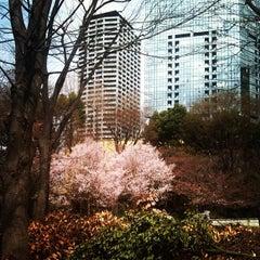 Photo taken at 新宿中央公園 (Shinjuku Central Park) by Chiaki O. on 4/3/2012