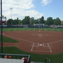 Photo taken at Marita Hynes Field at the OU Softball Complex by Zeph H. on 4/22/2012