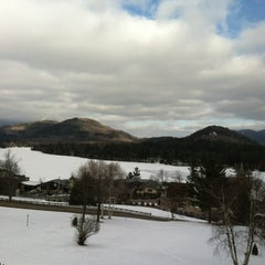 Photo taken at Crowne Plaza Resort Lake Placid-Golf Club by S. S. on 2/19/2012