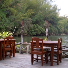 Photo taken at The River Kwai Jungle Rafts by pan..chiw on 1/19/2012