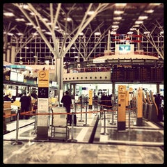 Photo taken at Stuttgart Airport Manfred Rommel (STR) by Farad A. on 9/12/2012