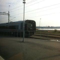 Photo taken at Sölvesborg Station by Petra Charlotte A. on 9/25/2011