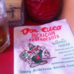 Photo taken at Don Cuco Mexican Restaurant by Rob on 7/14/2012