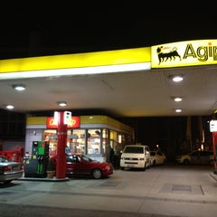 Photo taken at Agip by Patrick D. on 4/3/2012
